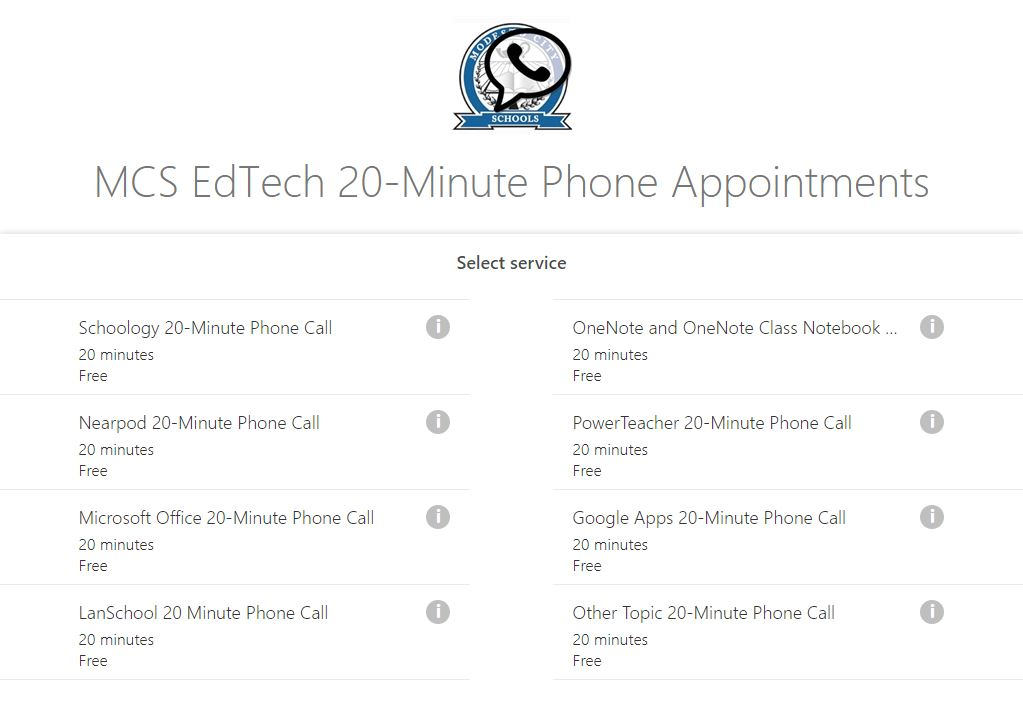 image pf mcsedtech phone call booking page